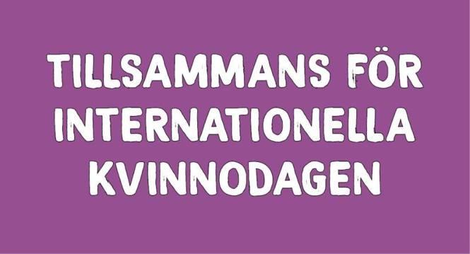 Tillsammans för internationella kvinnodagen